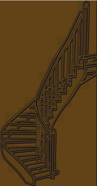 Schodiště, zábradlí